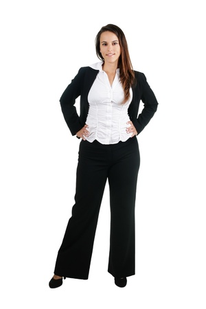 ordinary: Business woman, isolated on white