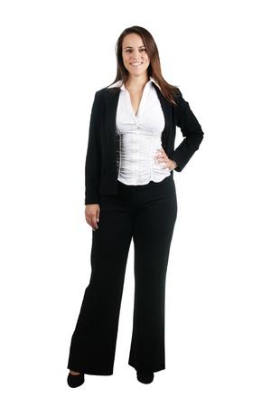 administrador de empresas: Mujer de negocios, aislados en blanco