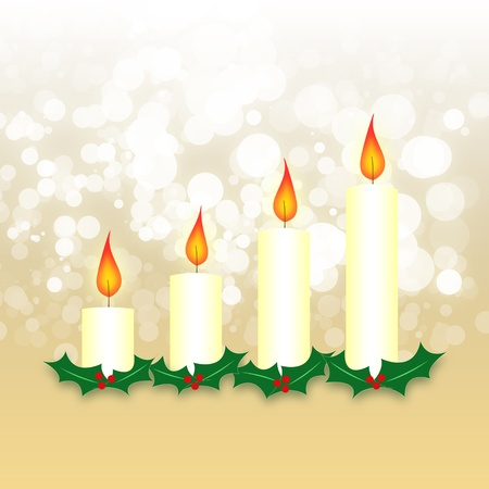 Advent wreath of four candles photo