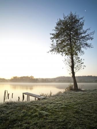 Beautiful lake in early autumn morning Stock Photo - 11374435