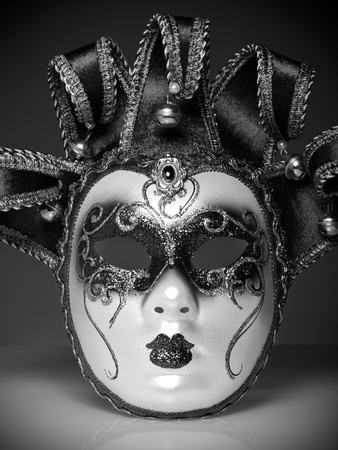 Venice mask in white and black  photo