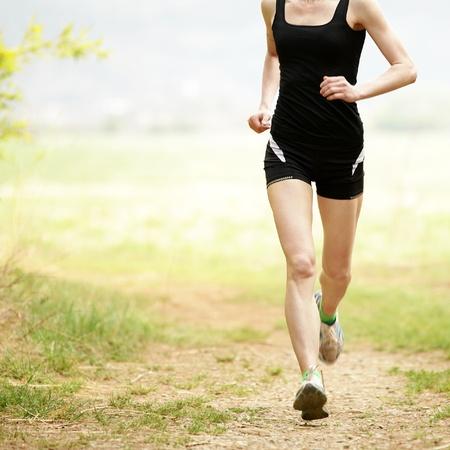 自然の中でジョギング