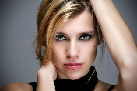 Portrait of beautiful young woman Standard-Bild
