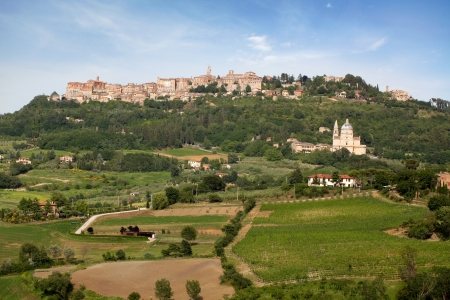 Tuscan village Montepulcino in Italy Stock Photo - 14467562