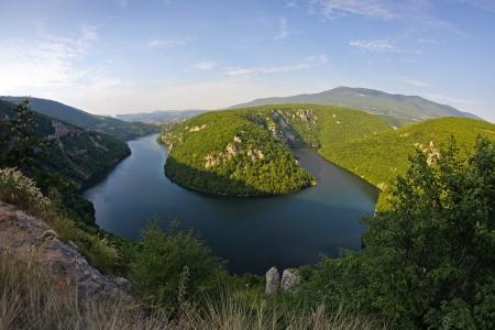 bosna: Vrbas river in Bosnia and Herzegovina