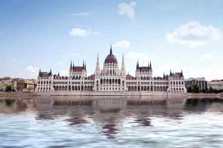 Hungarian parliament in Budapest, Hungary photo