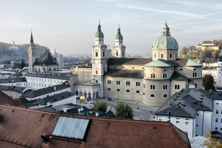 Salzburg cathedral in early evening Stock Photo - 15566152