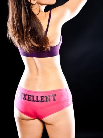 Woman in sport underwear showing her back Stock Photo - 16016572