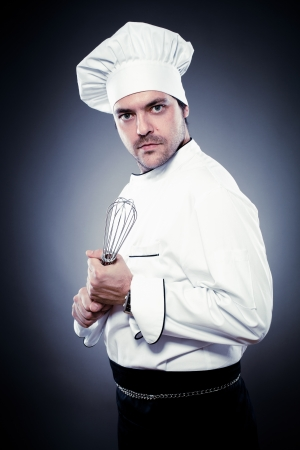 Funny chef with whisk Stock Photo - 15985408