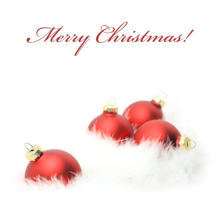 Christmas baubles with copy space Stock Photo - 16065444