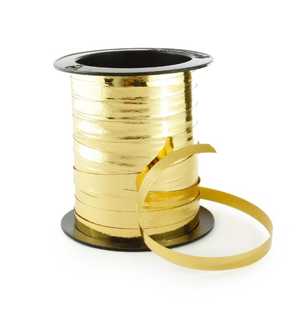 Golden ribbon in a roll Stock Photo - 16065445