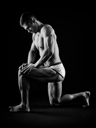 male underwear model: Muscular man posing