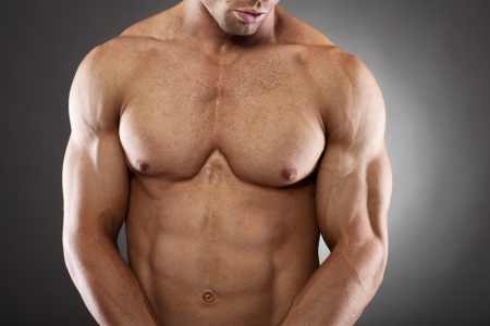 six pack: Muscular man posing
