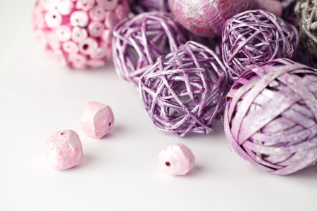 Purple and pink decorative balls Stock Photo - 17013619