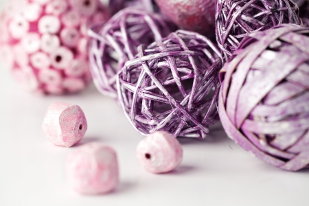Purple And Pink Decorative Balls Stock Photo Picture And Royalty Interesting Purple Decorative Balls