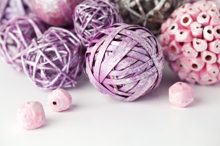 Purple and pink decorative balls Stock Photo - 17013624