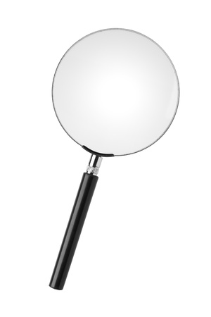 Magnifying glass isolated on white Stock Photo - 17013618