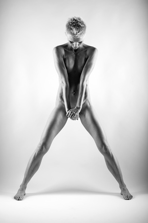Naked woman in studio. Fine art photo of female body. Stock Photo - 17055821