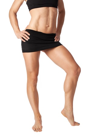 Fit female body isolated on white Stock Photo - 17369572