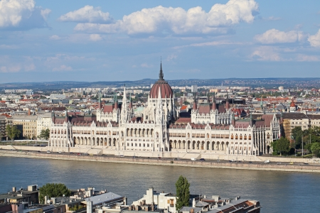 Budapest parliament from above view Stock Photo - 18048815