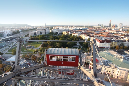 Panorama of the city of Vienna from Wiener Riesenrad  Stock Photo - 18094678