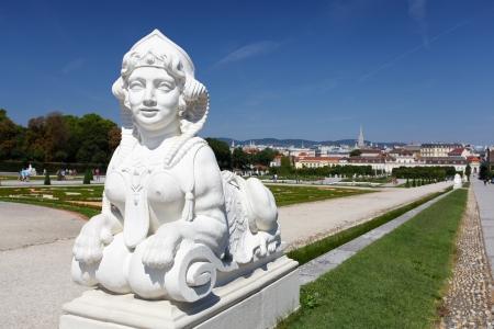 esfinge: Esfinge en Belvedere Garden en Viena en Austria