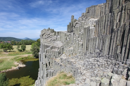 National Natural Monument of Panska Skala in the Czech Republic Stock Photo - 18094959