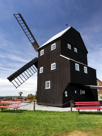 Windmill against blue sky in Germany Stock Photo - 18094749