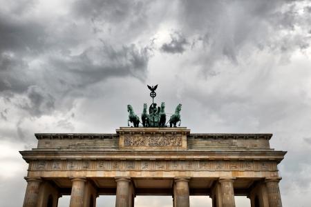 quadriga: Quadriga on Brandenburg Gate in Berlin