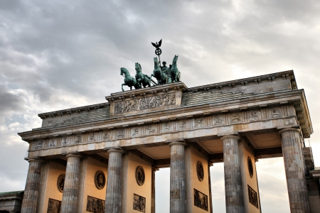 Quadriga on the top of Brandenburg Gate in Berlin Stock Photo - 18080348