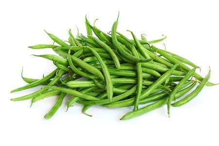 Heap of green beans isolated on white Stock Photo - 18133459