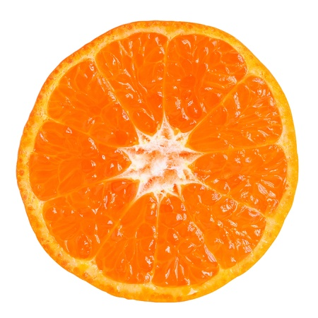 Tangerine slice isolated on white Stock Photo - 18133457