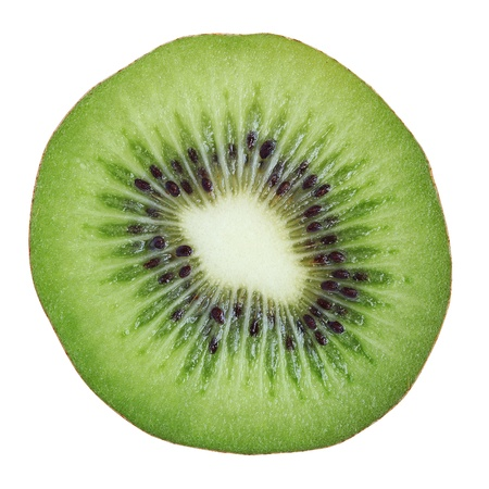 Slice of kiwi isolated on white Stock Photo - 18133463