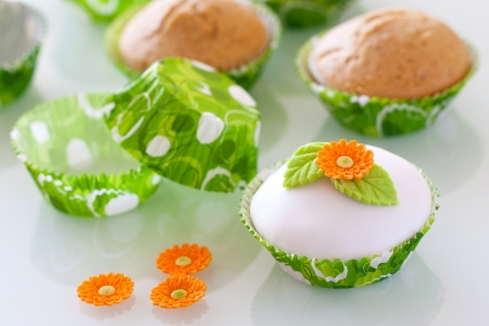 Beautiful  cupcake with spring decoaration Stock Photo - 18179651