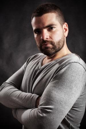 handome: Handsome man posing with attitude Stock Photo