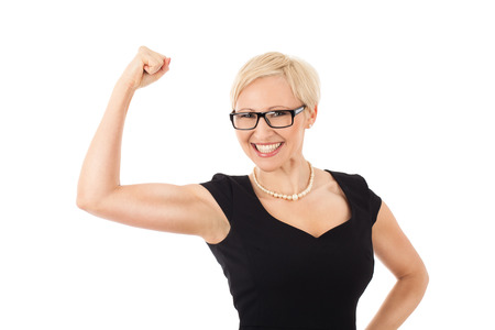 We can do it! - strong business woman photo