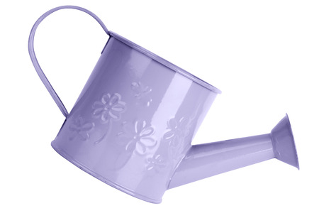 Watering can isolated on white photo