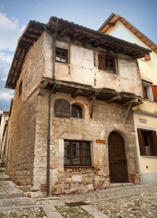 del: Medieval house in Cividale del Friuli, Italy