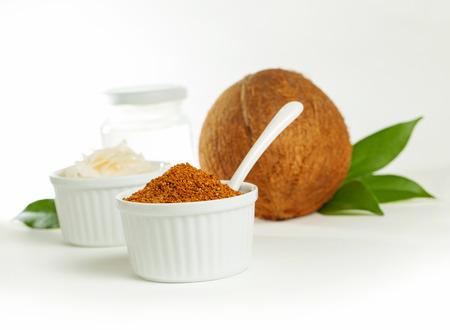 coco: Coco y es productos sanos - el azúcar, el aceite y chips