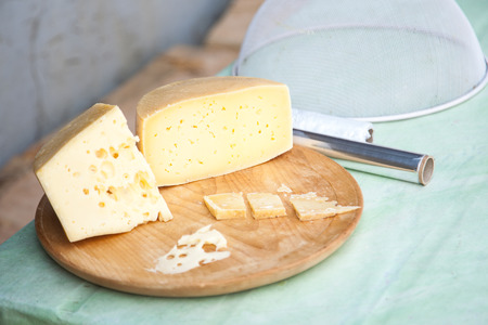 shepards: Shepards traditional home made cheese of Velika Planina, Slovenia