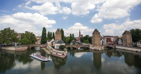 strasbourg: Bridge over the river Ill in Strasbourg Stock Photo