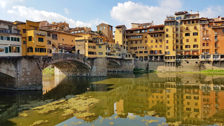 Ponte Vecchio in Florence on hot sunny summer day