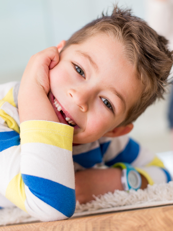Little boy smiling withouth his milk teeth Banco de Imagens