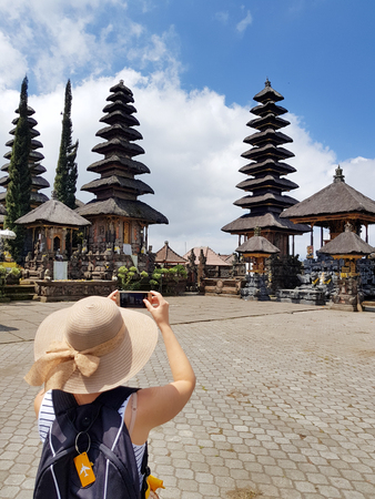 Temple - pura Ulundanu Batur in Kintamani area in Bali