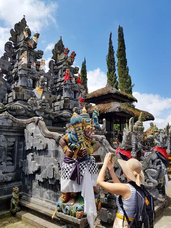 Temple - pura Ulundanu Batur in Kintamani area in Bali