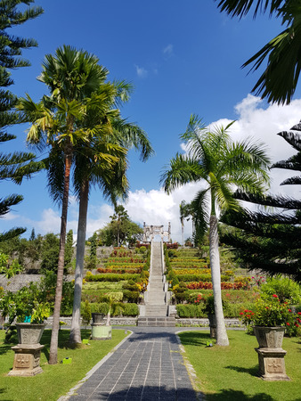 Taman Ujung Water Palace stairs to ruins memorium