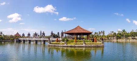 Panorama of ruins in Taman Ujung Water Palace