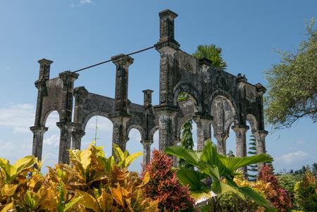 Memory of ruins in Taman Ujung Water Palace