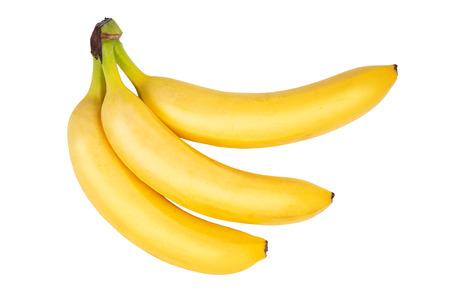 Three ripe bananas isolated on white 版權商用圖片
