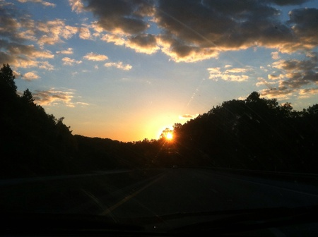 Sunset while driving in West Virginia Reklamní fotografie